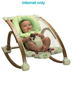 Fisher Price Baby Studio Wooden Infant Rocker