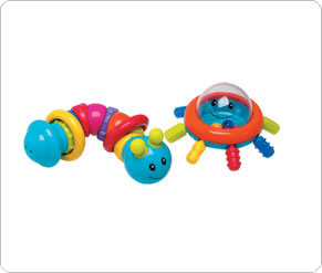 Bug and Octopus Rattle Set
