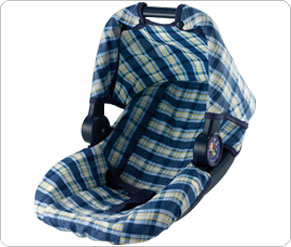 Dolls Car Seat - Blue