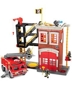 Fisher Price Imaginext Firestation and Fire Engine product image