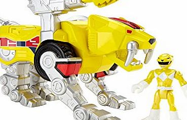 Fisher-Price Imaginext Mighty Morphin Power Rangers Yellow Ranger and Sabertooth Zord Toy Figure