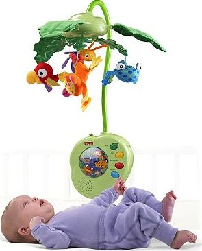 Fisher Price, 2041[^]10068365 Rainforest Peek-A-Boo Leaves Mobile