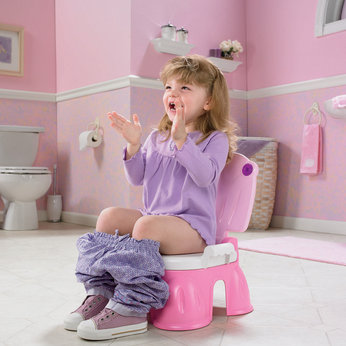 Royal Step Stool Potty - Pink