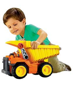 fisher price tuff rumblin dump truck review compare prices buy online. Black Bedroom Furniture Sets. Home Design Ideas