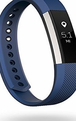 Fitbit Alta Fitness Wrist Band - Silver/Blue, Large