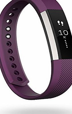Fitbit Alta Fitness Wrist Band - Silver/Plum, Small