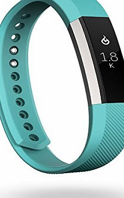 Fitbit Alta Fitness Wrist Band - Silver/Teal, Small