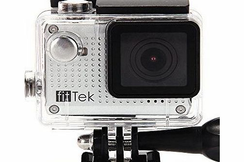 fitTek Youth S30W Sports Action Camera Mini Camcorder CAR DVR Digital Video Recorder with LCD Screen 1080P HDMI 30m waterproof WIFI, Real Time Preview, remote controlled via smart phone for iPhone 6 6