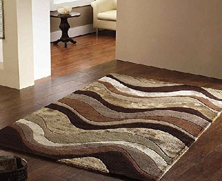 Flair Rugs Botanical Saria Rug, Brown/Taupe, 120 x 180 Cm product image