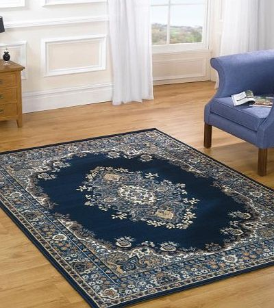 Flair Rugs Element Lancaster Navy Blue Oriental Rug 80X150 product image
