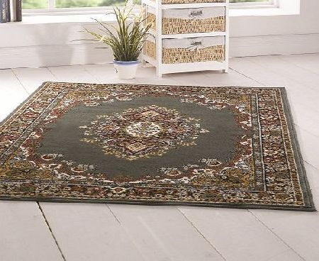 Flair Rugs Element Lancaster Traditional Rug, Green, 180 x 250 Cm product image