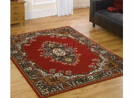 Flair Rugs Element Lancaster Traditional Rug, Red, 160 x 220 Cm product image