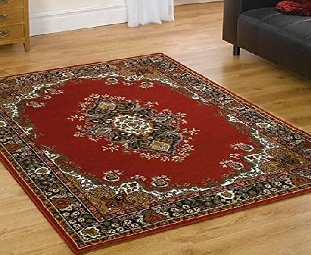 Flair Rugs Element Lancaster Traditional Rug, Red, 280 x 365 Cm product image
