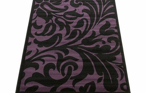 Flair Rugs Element Warwick Black / Purple Contemporary Rug Rug Size: 150cm x 80cm (4 ft 11 in x 2 ft 7.5 in) product image