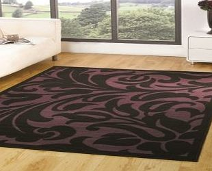 Flair Rugs Element Warwick Black / Purple Contemporary Rug Rug Size: 160cm x 120cm (5 ft 3 in x 3 ft 11 in) product image