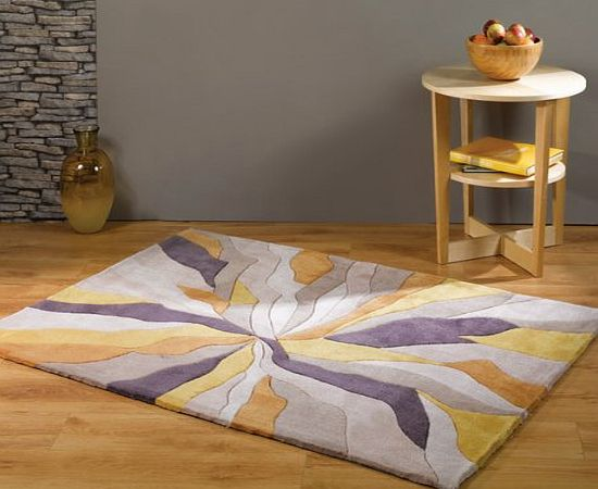 Flair Rugs Infinite Splinter Handtufted Rug, Ochre, 120 x 170 Cm product image