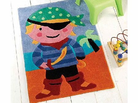 Flair Rugs Kiddy Play Pirate Childrens Rug, Multi, 70 x 100 Cm product image