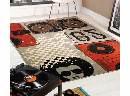 Flair Rugs Retro Funky Beat Box Rug, Multi, 120 x 160 Cm product image