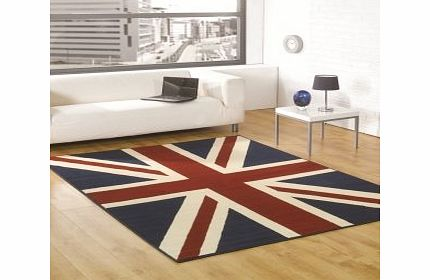 Flair Rugs Retro Funky Buckingham Red/White/Blue Modern Design Oblong Rug 160X225 product image