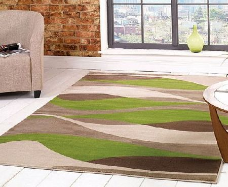 Flair Rugs Sincerity Modern Contour Rug, Green, 120 x 170 Cm product image