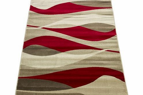 Flair Rugs Sincerity Modern Contour Rug, Red, 80 x 150 Cm product image