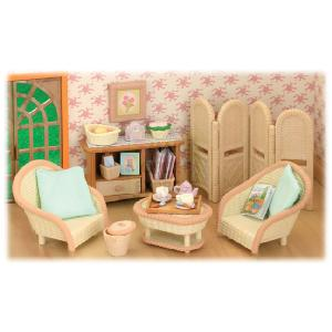 flair sylvanian families conservatory living room set doll review compare prices buy online. Black Bedroom Furniture Sets. Home Design Ideas