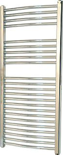 Flomasta, 1228[^]9864D Curved Electric Towel Radiator Chrome