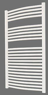 Flomasta, 1228[^]9276D Curved Ladder Towel Radiator White 1100