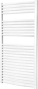 Flomasta, 1228[^]7947D Curved Ladder Towel Radiator White 1200