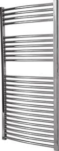 Flomasta, 1228[^]8874D Curved Towel Radiator Chrome 1200 x