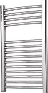 Flomasta, 1228[^]6285D Curved Towel Radiator Chrome 700 x
