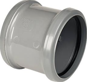 FloPlast, 1228[^]14551 SP105G Pipe Coupler Double Socket Grey