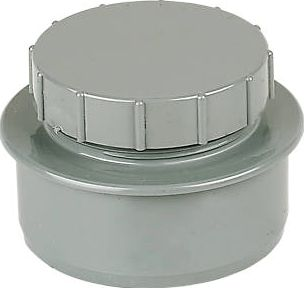 FloPlast, 1228[^]16026 SP292 Screw-On End Cap Grey 16026