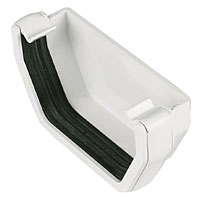 Square Line External Stop End 114mm White