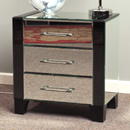 Florence Mirrored small 3 drawer bedside chest