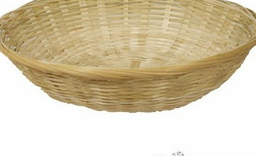 FloristryWarehouse Round Wicker 10 inch Fruit Baskets. Pack of 5. Empty 25cm food gift hamper