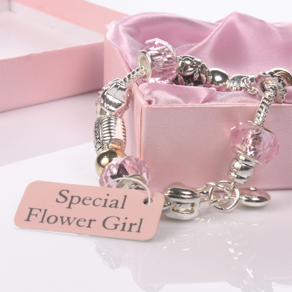 Girl Pink Bead Charm Bracelet - CLICK FOR MORE INFORMATION