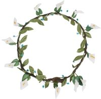 Hair Wreath - Calla Lily - White - CLICK FOR MORE INFORMATION