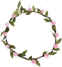 Hair Wreath - Mini Rose - Pink - CLICK FOR MORE INFORMATION