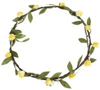 Hair Wreath - Mini Rose - Yellow - CLICK FOR MORE INFORMATION
