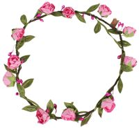 Hair Wreath - Peony - Pink - CLICK FOR MORE INFORMATION