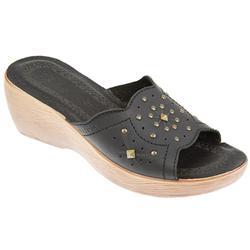 FLY FLOT SHOES* Delightful stylish summer slip on wedge heel mule