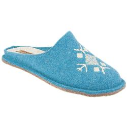 Female Flyl816 Textile Upper Textile Lining Textile Lining Comfort House Mules and Slippers in Turquoise