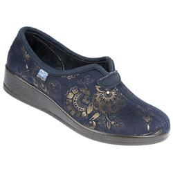 Female MARIA Textile Upper Textile Lining Comfort House Mules and Slippers in Black, Navy