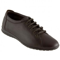 Womens ESFLY302SS Leather Upper Textile Lining Casual in Brown