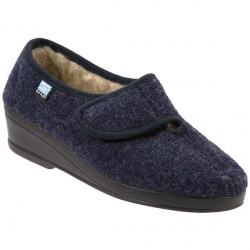 Womens SSFLY411 Textile Upper Textile Lining Comfort House Mules and Slippers in Blue
