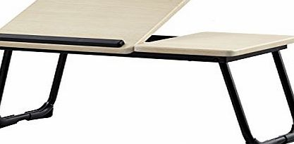 Flylinktech® Portable Laptop Desk Folding Laptop Table Stand Computer Notebook Bed Tray (wood)