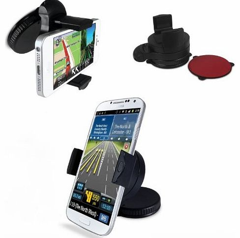 - Omniholder Universal Windscreen Or Dashmount Mobile Phone Holder, Works In Portrait Or Landscape Perfect For iPhone, HTC, Blackberry Handsets - Also Works With The Phone In Its Case