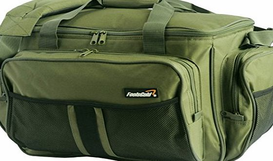 foolsGold Large Olive Green Insulated Fishing Tackle Holdall Bag
