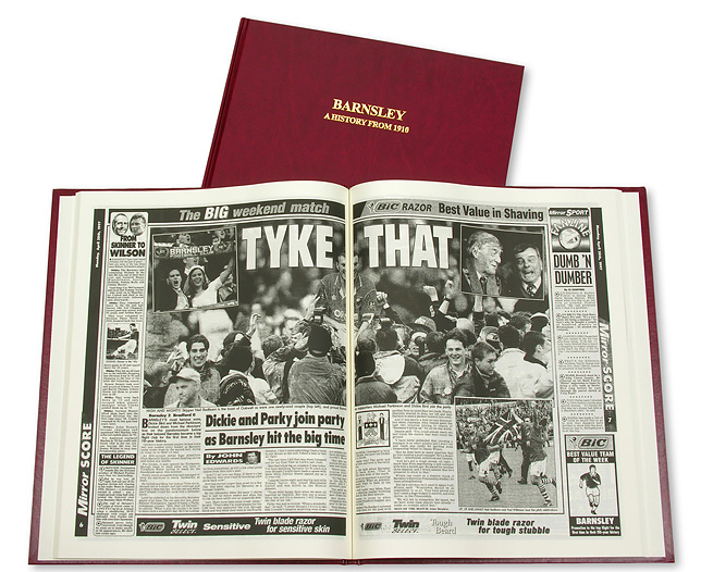 Historic News Coverage Of Your Football Club. Unique and fascinating insights into the history of your football club, these superb hardbound books reproduce the stories and pictures as they ve appeared in the tabloid press since the beginning of the  - CLICK FOR MORE INFORMATION
